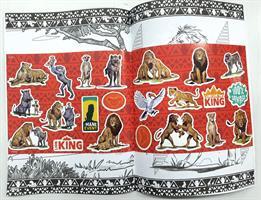 חוברת צביעה + מדבקות מלך האריות