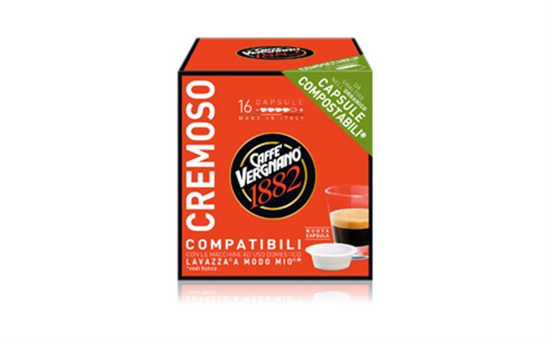 8 מארזים 128 קפסולות 1.4₪ ליח' קפה אספרסו  CREMOSO [אדום] בטעם קרמי A Modo Mio