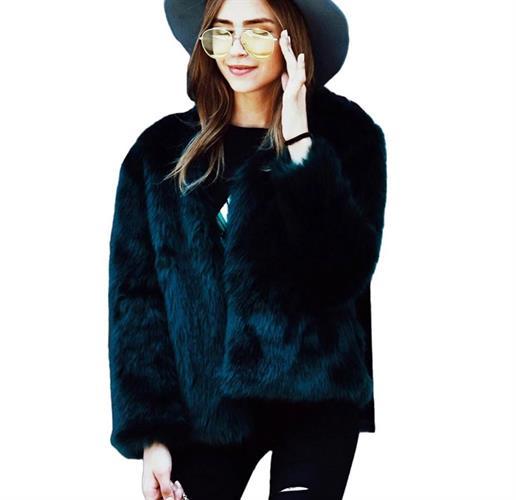 מעיל פרווה שחור