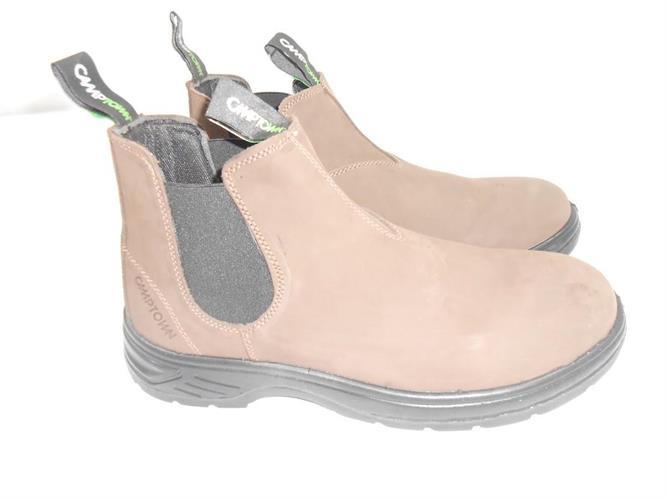 מגפיים נעליים 45 נאות מגף הליכה יציאה בילוי ועבודה מבית CAMTOWN צבע  חום כהה