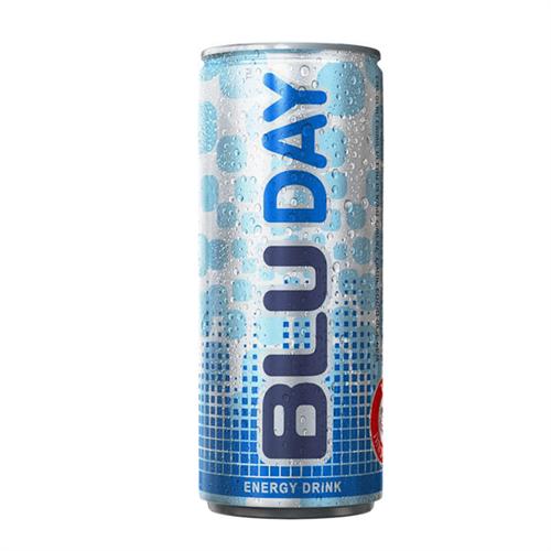 """משקה אנרגי בלו דיי פחית כחול  250 מ""""ל  1/24"""