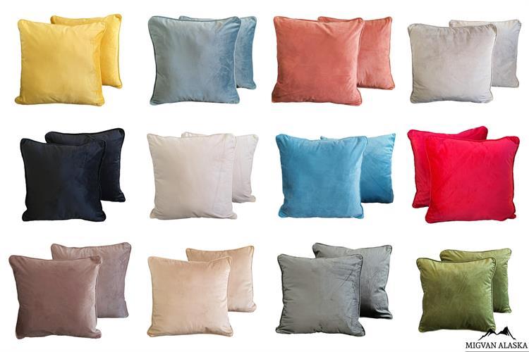 כריות נוי קולקציית - קטיפה חלק (בתוספת קדר) 12 צבעים!