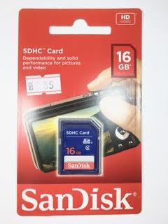 כרטיס זיכרון למצלמה 16 ג'יגה SanDisk