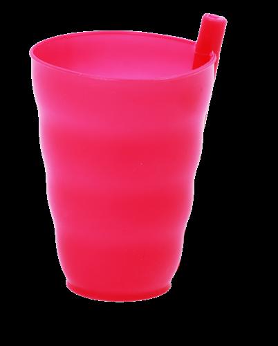 כוס קש מפלסטיק