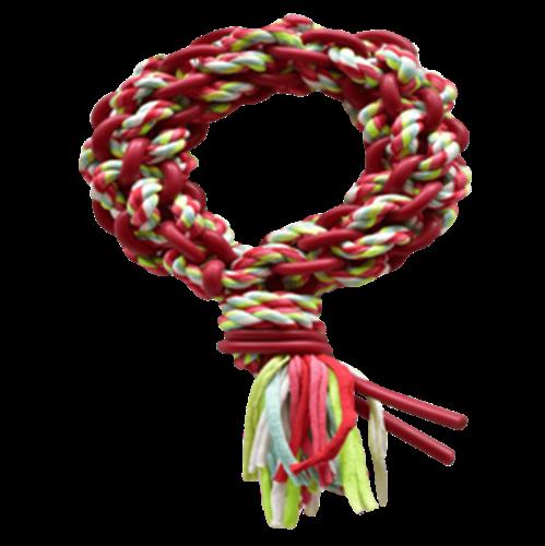 פטקס חבל משחק דנטלי צבעוני בשילוב גומי טבעי