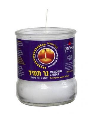 נרות  נשמה  48 שעות בכוס זכוכית - מבצע 6 יח'