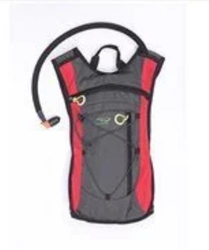 שלוקר בתיק תרמיל גב ספורט H20 חגור צבע אדום 2 ליטר  כולל שקית עם צינורית שתייה 800011