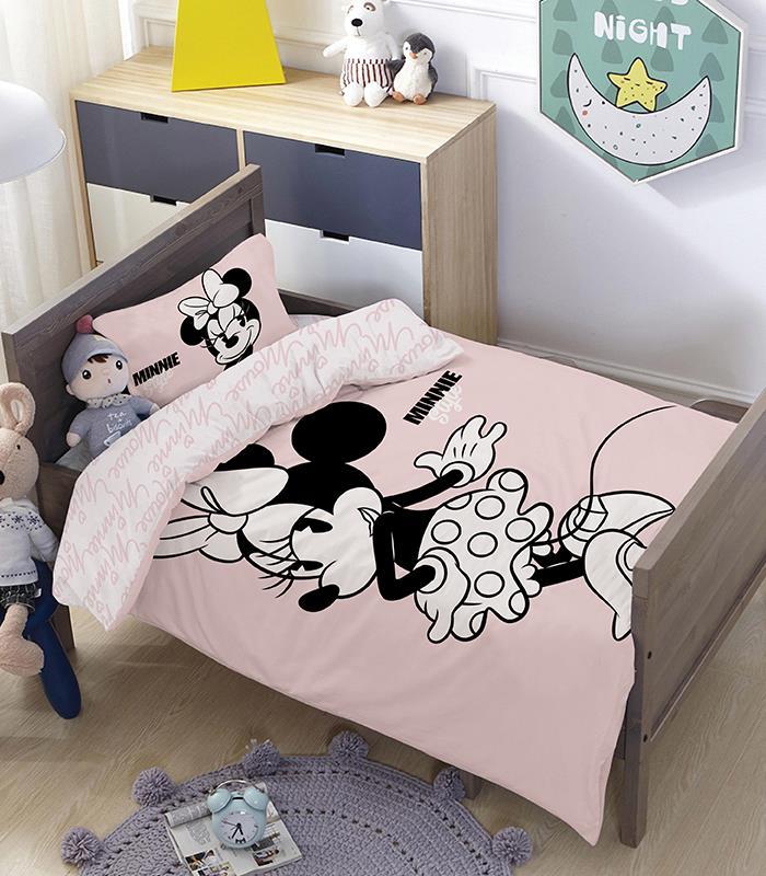 מותגים למיטת מעבר \ תינוק - פינק סטייל 100% כותנה