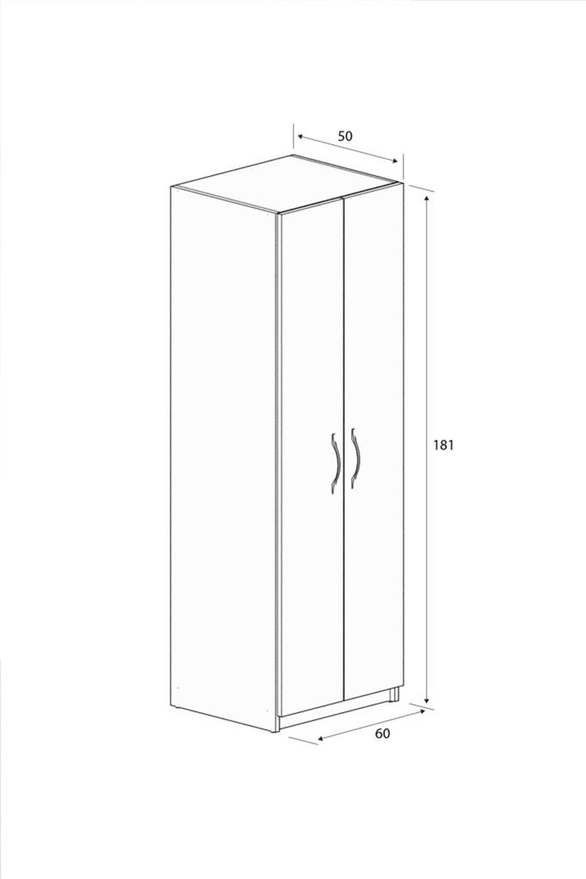 ארון 2 דלתות תליה ומדפים G2