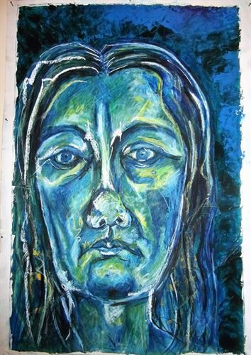 דיוקן ע. כחול
