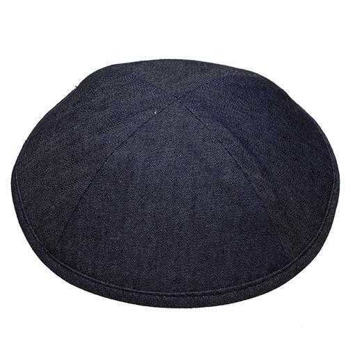 """כיפה גינס כחול כהה 17.5 ס""""מ"""
