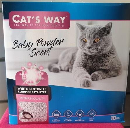 Cat's Way חול מתגבש לחתולים בניחוח בייבי פאודר