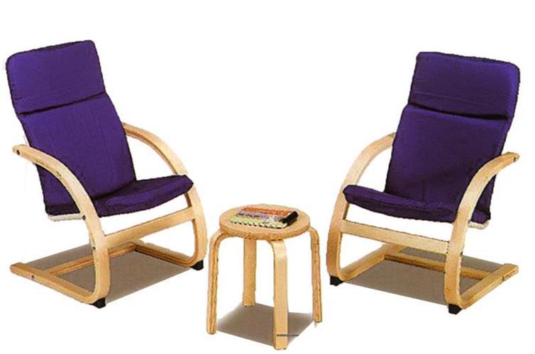 מערכת ישיבה משולב עץ + בד + שולחן
