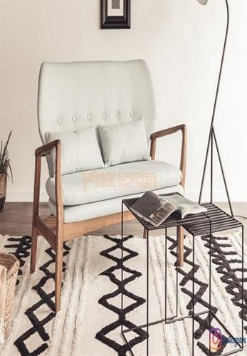 שטיח ברבר מרוקאי גיאומטרי מעויינים  אופוויט דגם מיקאלה
