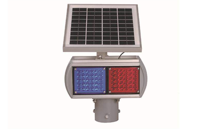 פאנל סולארי + תאורה אדום כחול – 2 מנורות