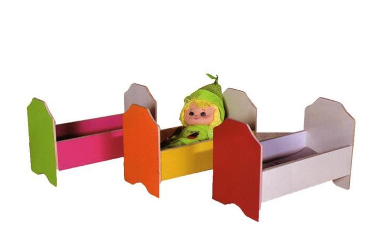 מיטת בובה עץ במבחר גוונים
