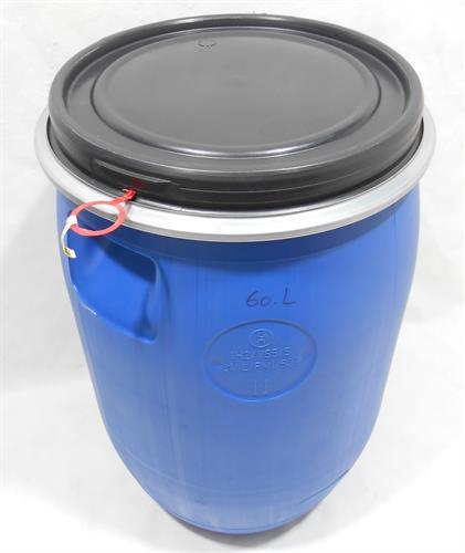 חבית 60 ליטר כחול לייצור חמוצים שמן זית יין  מים  (עם תקן ׂ)מתאים  בתור כיסא או מוצר נוי ואיכסון
