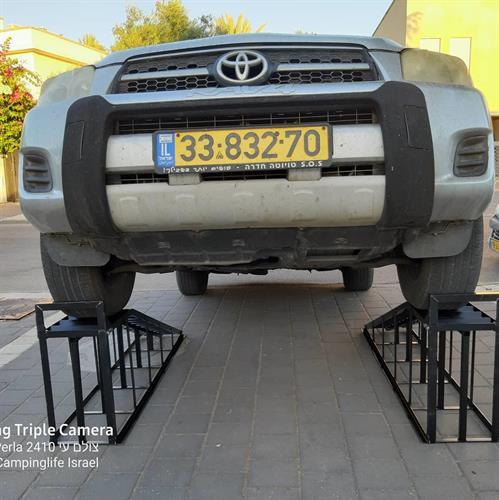 רמפות  ברזל לרכב כבד קל ובינוני גובה 50 ס''מ לעבודה תצוגה ותחזוקה פלדה מתאים גם למכוני שטיפת רכב