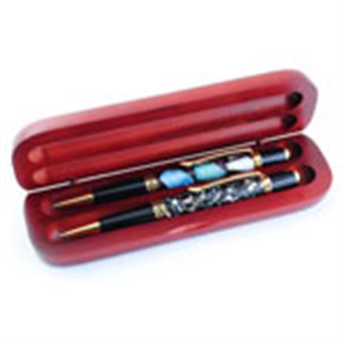 מארז ל-2 עטים מרוזווד