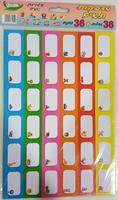 מדבקות תאים עם ציורים 72 מדבקות