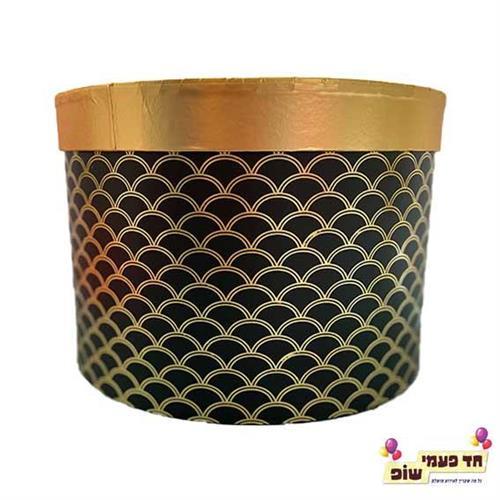 קופסא קשקשים זהב שחור בינוני