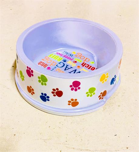 קערת אוכל לכלב (פלסטיק) גזע בינוני
