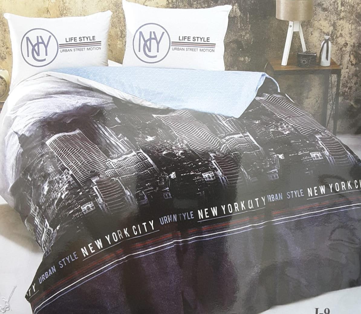 מצעים 100% כותנה סרוקה למיטת יחיד - רומנטקס Joy&more דגם NY