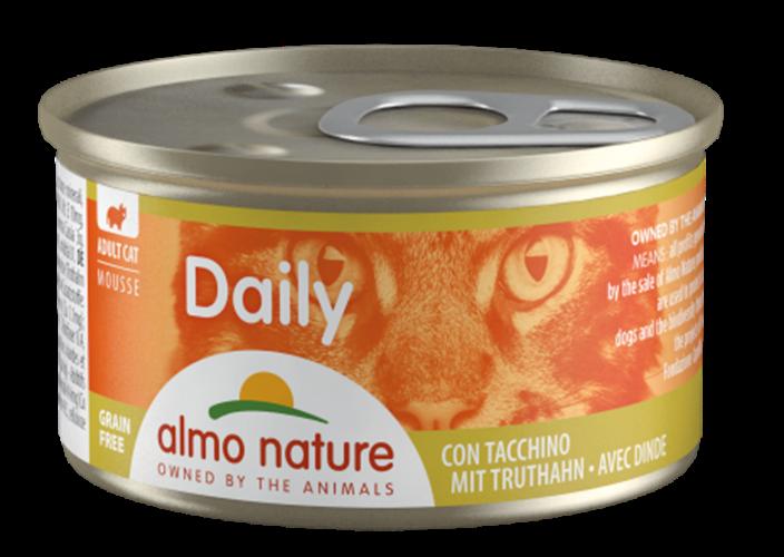 אלמו נייצ'ר דיילי מעדן לחתול על בסיס מוס הודו 85 גרם - ALMO NATURE DAILY