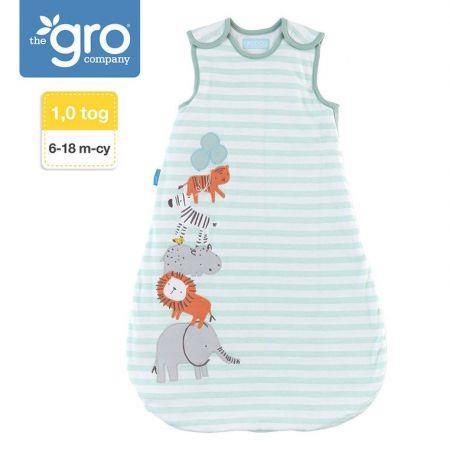 Grobag שק שינה מגדל חיות (6-18 חודשים / עובי 1)