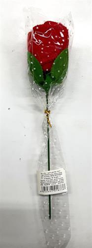 ורד עם מגבת קטנה