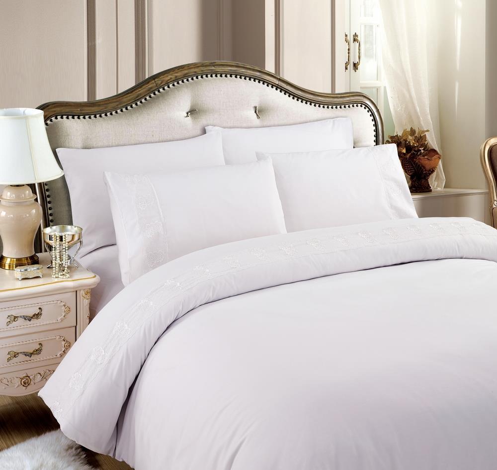 מצעים למיטת יחיד - רומנטקס GRACE צבע לבן
