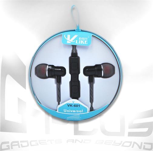 אוזניות חוט עם מיקרופון ודיבורית מובנה VK-601