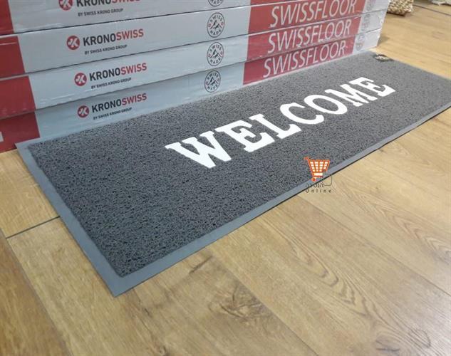 שטיח כניסה -  XL  - welcome -שטיח כניסה גומי  צבע שחור \ אפור          מידה      120*40   תוצרת סין