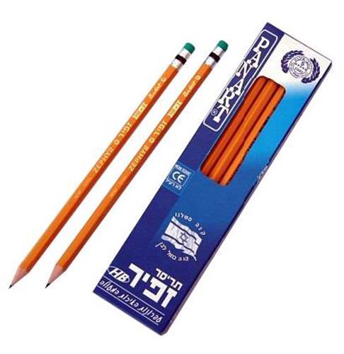 עפרונות-12 יחידות זפיר -תוצרת כחול לבן