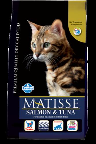"""אוכל לחתולים מאטיס סלמון וטונה 10 ק""""ג"""