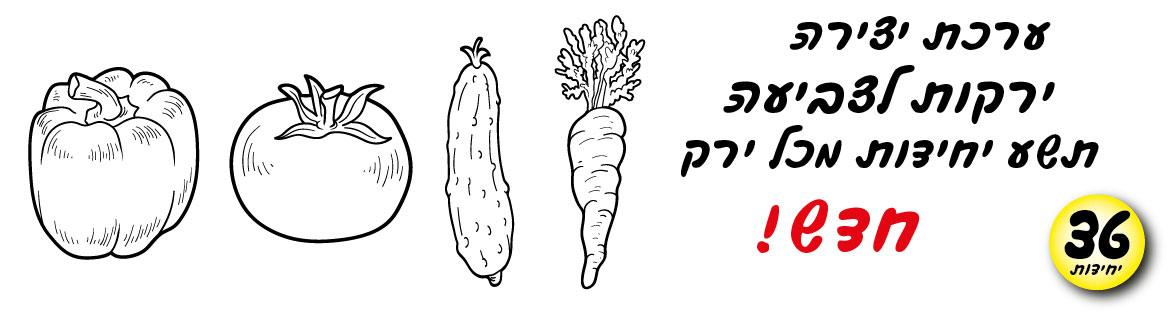 עבודת יצירה ירקות