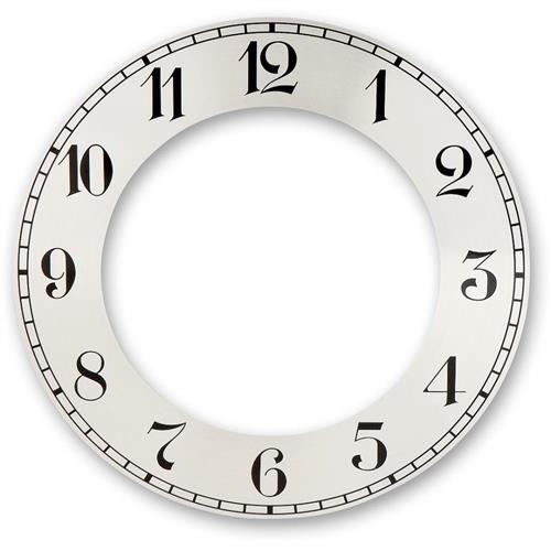 מסגרת קוטר 152 ממ רקע כסוף ליצירת שעון