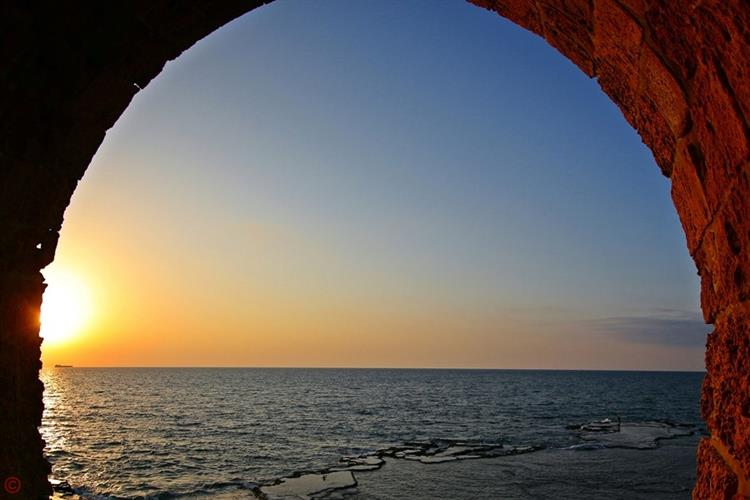 Support Israel and get this picture: Sunset, Acre