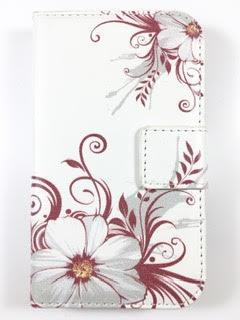 מגן ספר לLG L40 דגם 'פרחים'