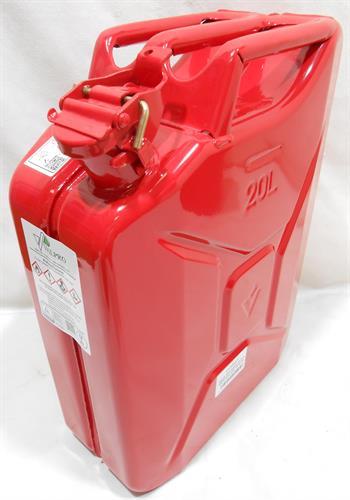 גריקן מיכל דלק מוגן פיצוץ 20 ליטר צבע אדום כולל משפך ירוק VALPRO