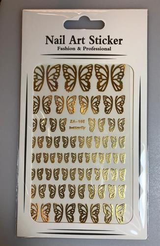 מדבקות פרפרים זהב