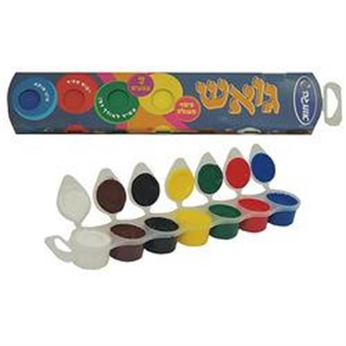 צבעי גואש 6+1 יחידות