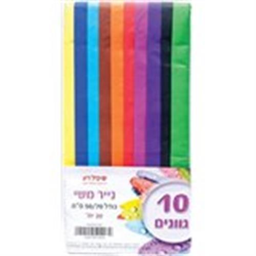 נייר קראפ 10 צבעים בחבילה