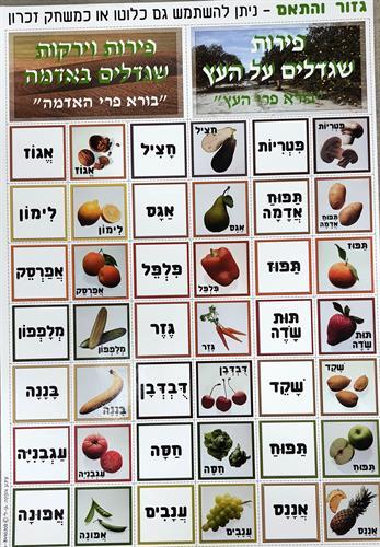 פלקט התאמת פירות וירקות