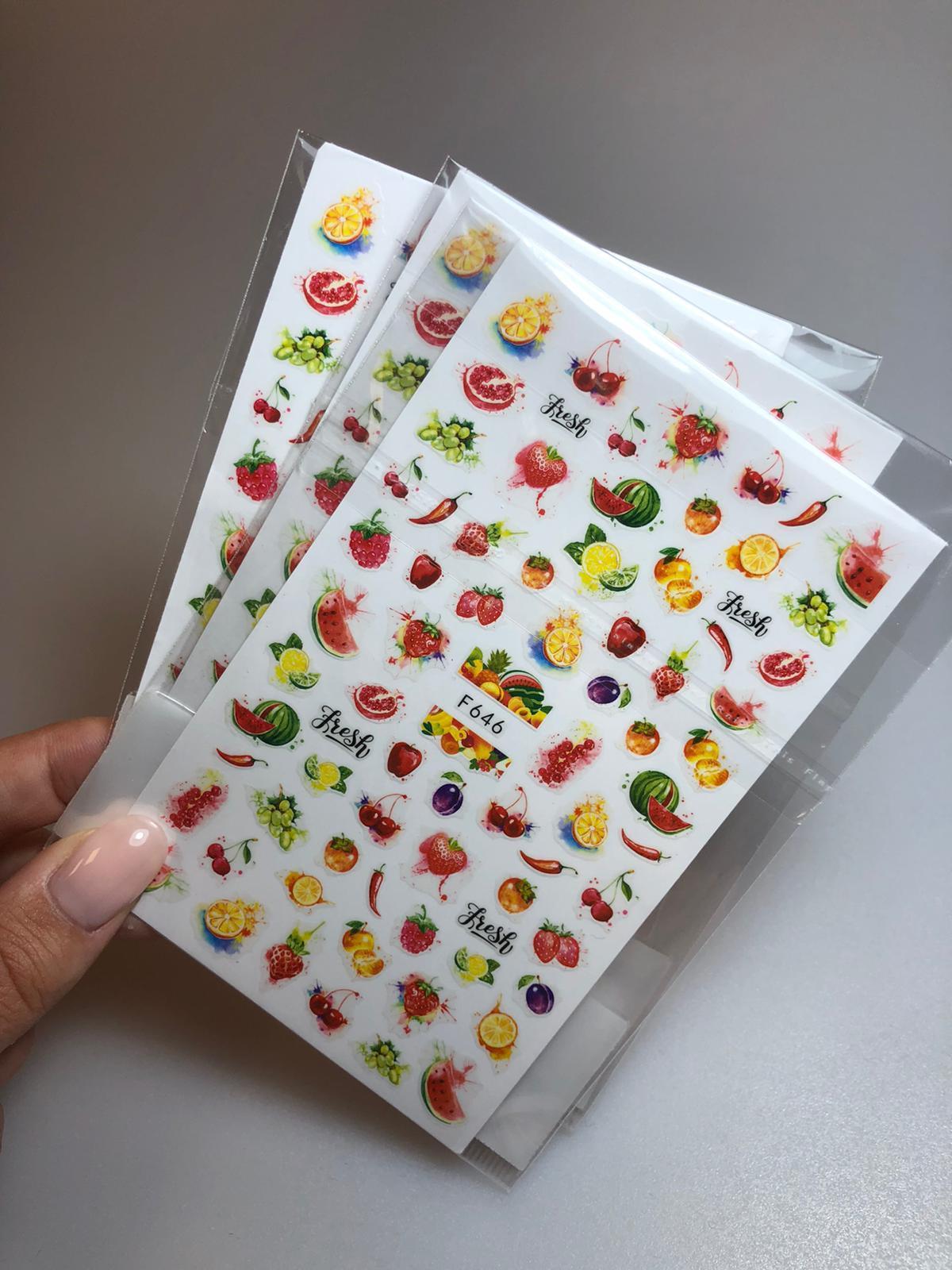 מדבקות פירות קיץ