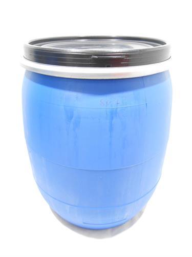 חבית 80 ליטר כחול לייצור חמוצים שמן זית יין  מים  (עם תקן ׂ)מתאים  בתור כיסא או מוצר נוי ואיכסון