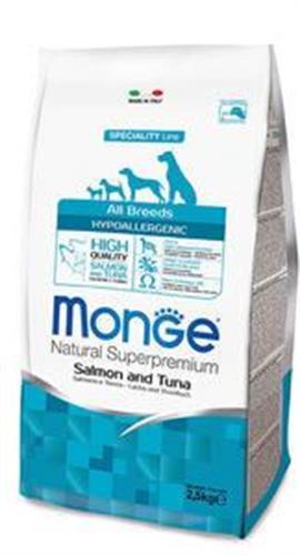 MONGE-אדולט לכלב סלמון טונה היפואלרגני 2.5 קג