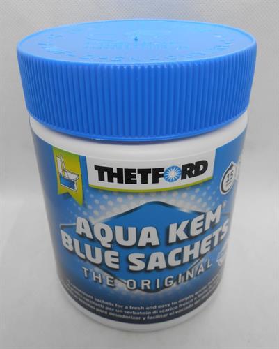 חומר לשירותים טבליות 450 גרם צבע כחול  כימיים מנקה ומבשם אסלות ניידות  AQUA KEM BLUE SACHETS