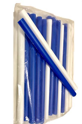 סט מקלות תנועה והקשה דקים כחול לבן