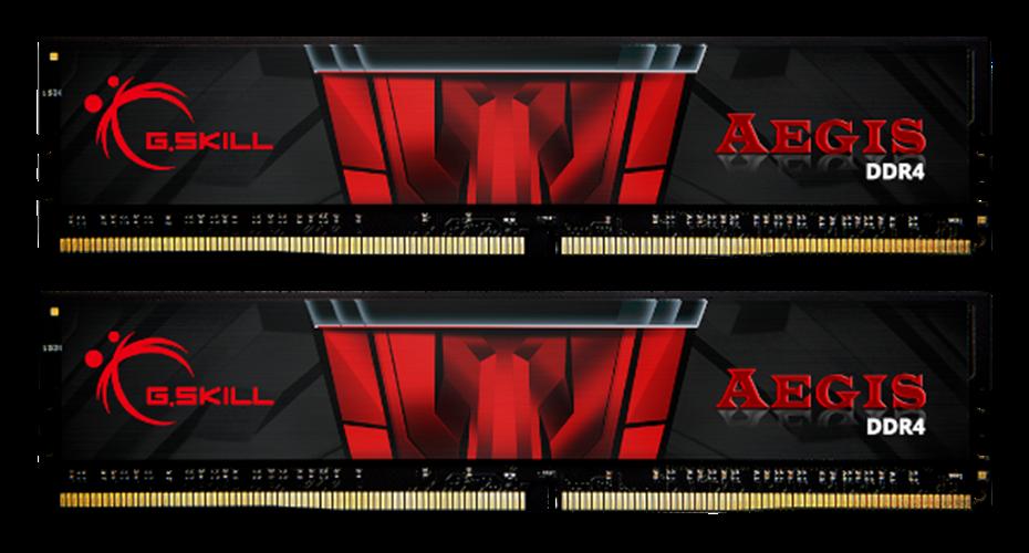 זכרון למחשב נייח G.skill Aegis 16GB 2X8 DDR4 3200Mhz